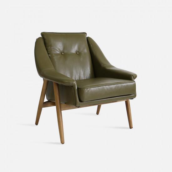 1950's Sofa Green 1P L75