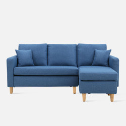 LAP L Shape Sofa - Blue L182