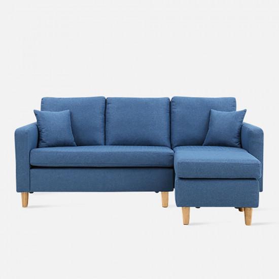 LAP L Shape Sofa - Blue L182