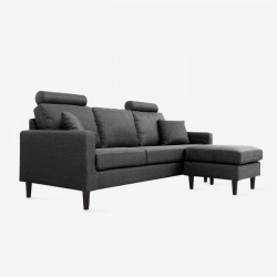COLON L-shape Sofa - Dark Grey