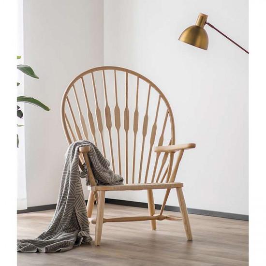 Peacock Lounge Chair, Natural Ash