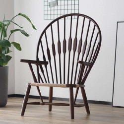Peacock Lounge Chair, Walnut