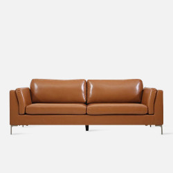 [SALE] LUMI Leather Sofa L189 -  Brown