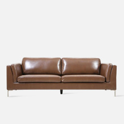 LUMI Leather Sofa L189 - Dark Brown