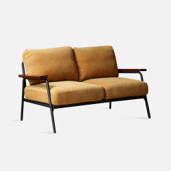 Industrial Metal Sofa 2S, Yellow