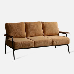 Industrial Metal Sofa 3S, Yellow