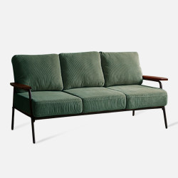 Industrial Metal Sofa 3S, Green