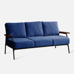Industrial Metal Sofa 3S, Navy