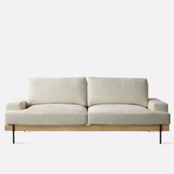 Nadine Frame Sofa, Oak, L180-L238