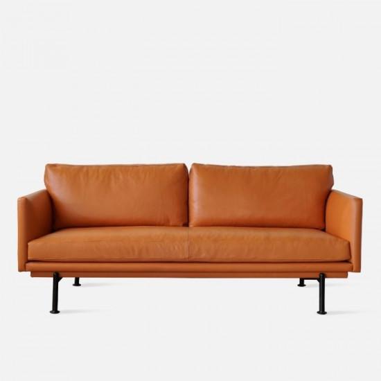 Nadine Leather Sofa, L180-L238