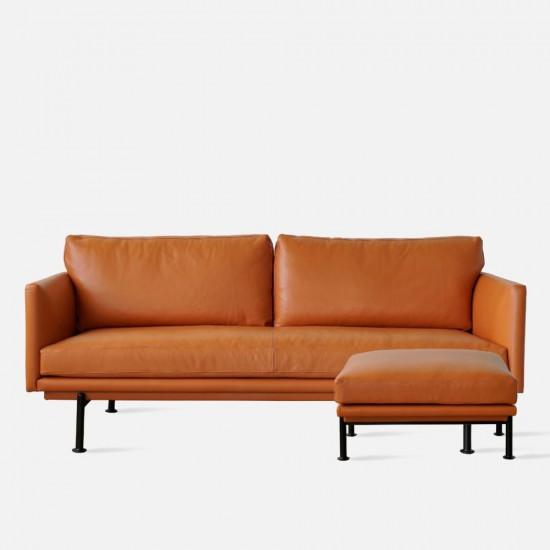 Nadine Leather Sofa with Ottoman, L203 [Display]