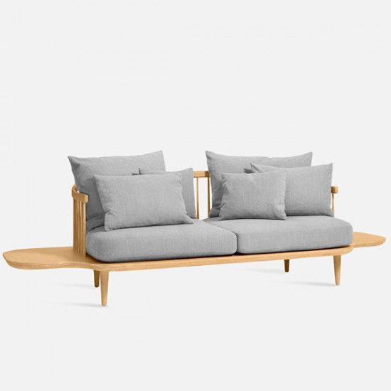 Willow Sofa with sidetable, Natural Ash