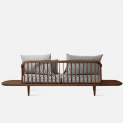 Willow Sofa with sidetable, Walnut Brown