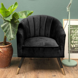 Chair Royal velvet black W70