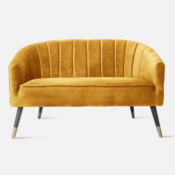 Sofa Royal velvet Yellow Brown L128