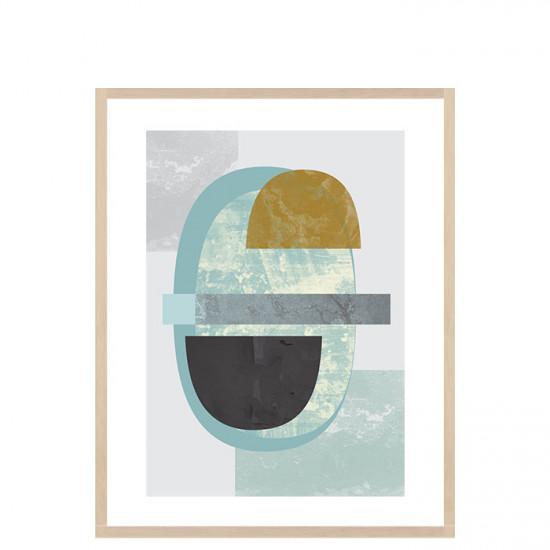 Pastel colours print, Large