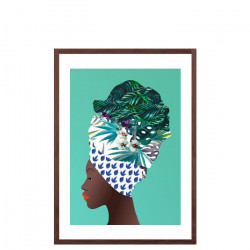 Tofo, Mozambique Capulana Lady by Marta Li