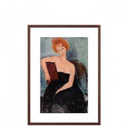 Redheaded Girl in Evening Dress by Amedeo Modigliani, 1918