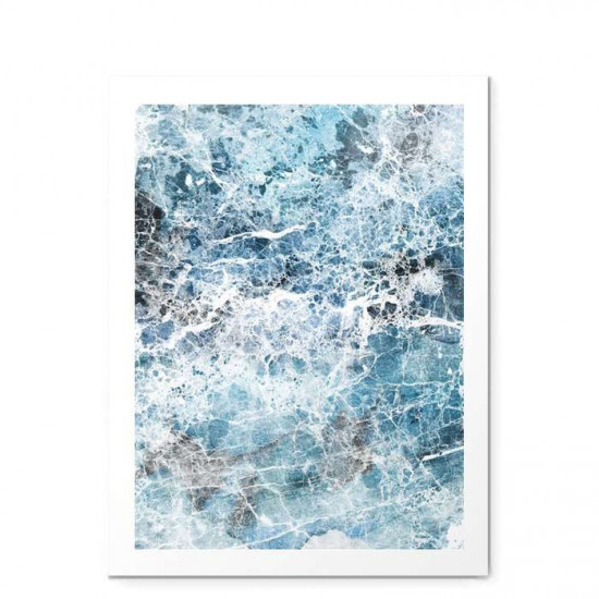 Sea Foam Blue Marble - small