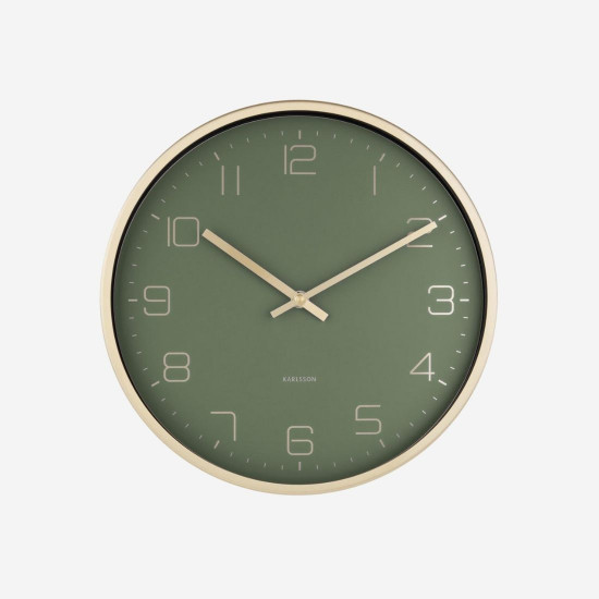 Wall Clock Gold Elegance - Green