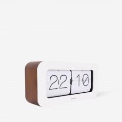 Clock Matiz - bamboo white wall/table