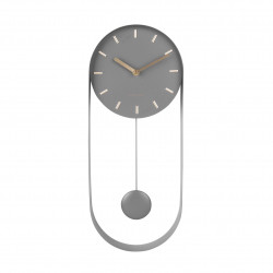 Wall Clock Pendulum Charm  - steel grey