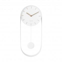 Wall Clock Pendulum Charm - steel white