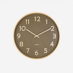 Wall Clock Pure Basswood Wood - medium moss green