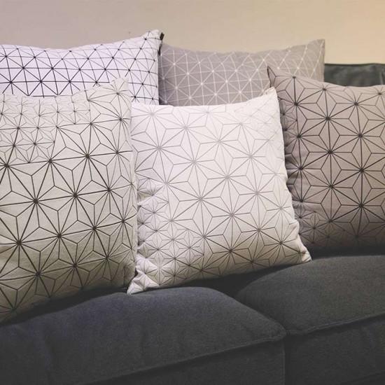 Geo origami pillow-M Grey
