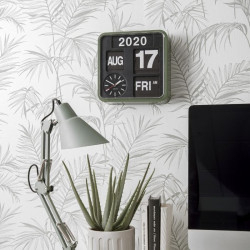 Wall clock Mini Flip green casing, black dial
