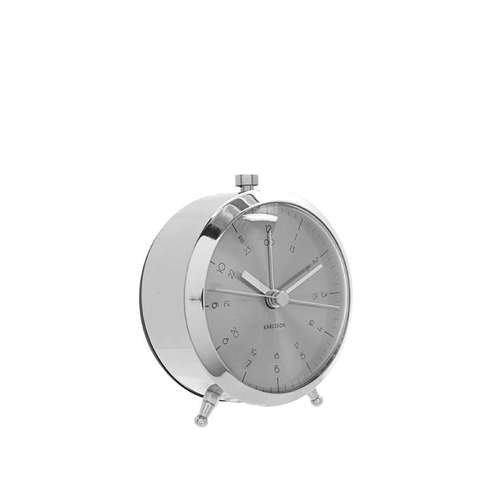 Alarm clock Button brushed steel