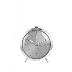 Alarm Clock Button - Brushed Steel
