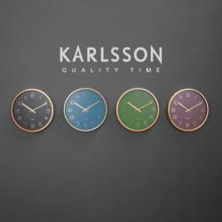 Wall Clock Gold Elegance - Purple