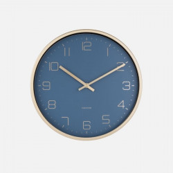 [SALE] Wall Clock Gold Elegance - Blue
