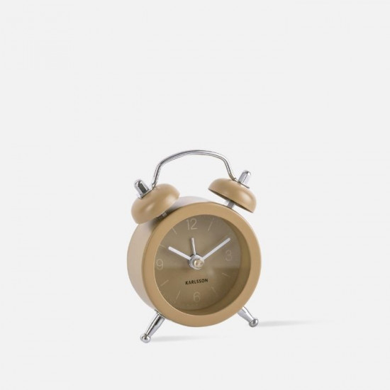 Alarm clock Mini Twin Bell assorted - Moss Blue