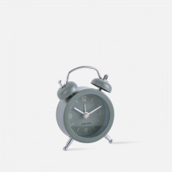 Alarm clock Mini Twin Bell assorted - Moss Blue