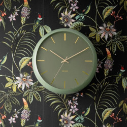 Wall clock Globe Moss Green