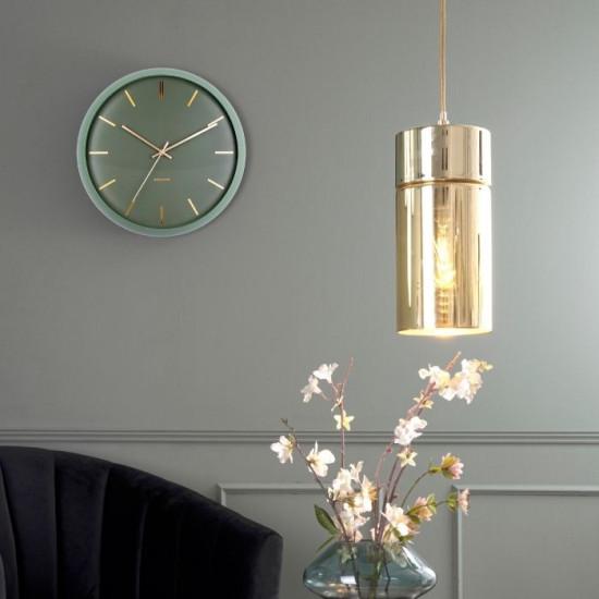Wall clock Globe Moss Green