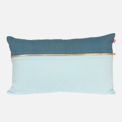 [SALE] Cushion Duo Tone brushed twill blue
