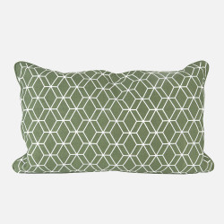 Cushion Hexagon jungle green