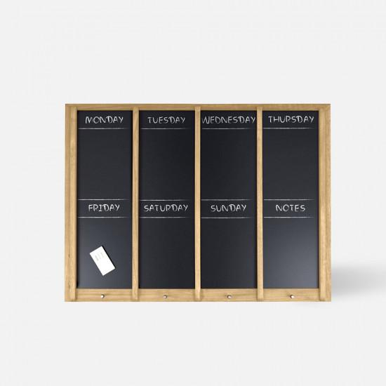 [SALE] Chalkboard Week planner Wood