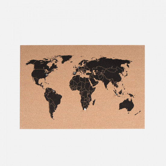 [SALE] Corkboard World Map