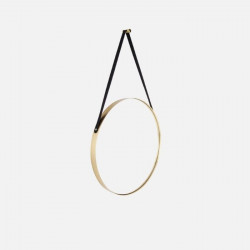 Wall Mirror Balanced - Round Rim Gold