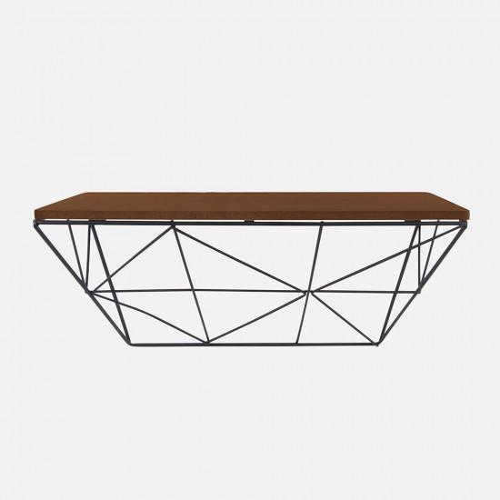 Wooden Shelf with Raster - Black