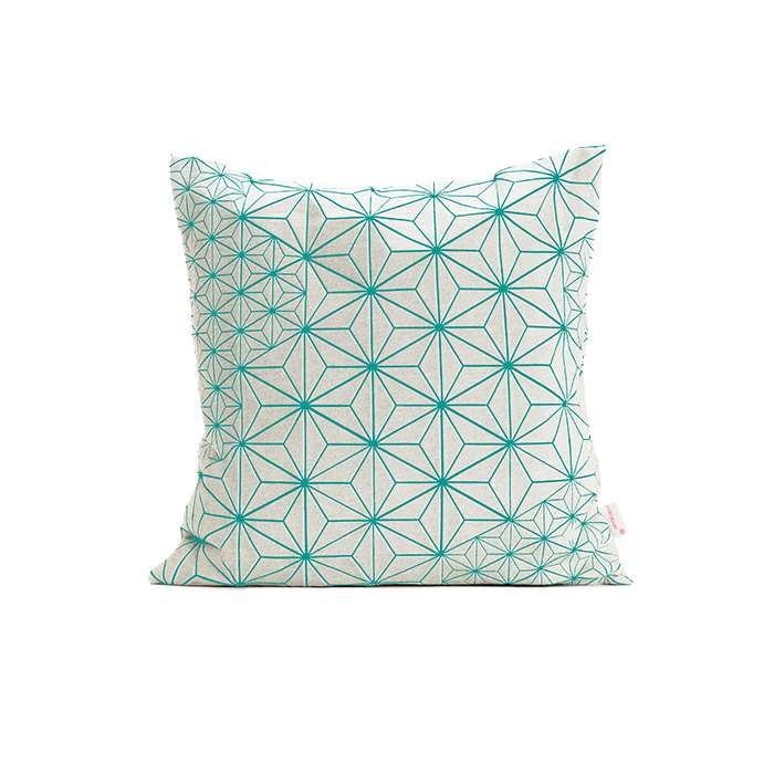 Tamara pillow - Turquoise & White