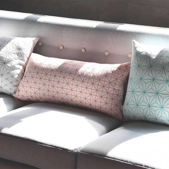 Tamara pillow - Turquoise & White