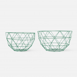 Fruit Bowl Set Linea - Pine Green