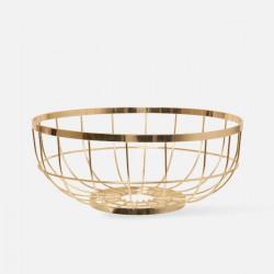 Fruit basket Open Grid metal gold plated