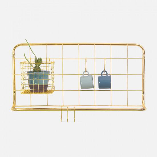 [SALE] Kitchen Rack Set Open Grid - Gold