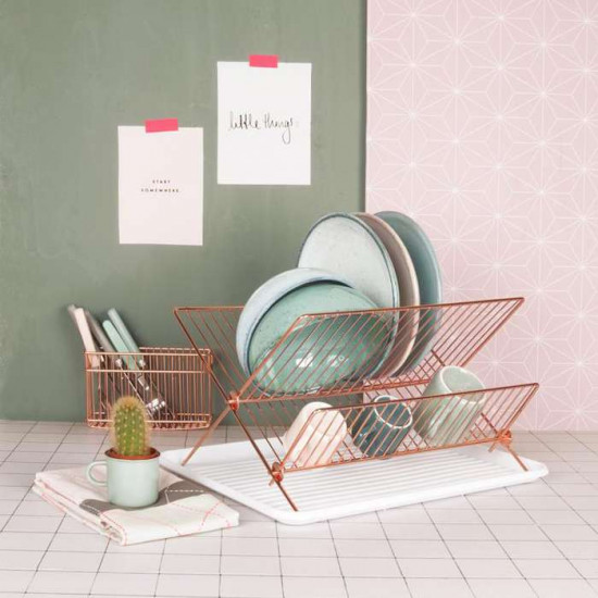 Dish Rack Copper Plated